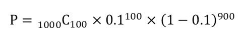 ぴったり100CVになる確率計算式